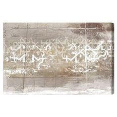 Hang this artful canvas above a seating group to create a stylish conversation space, or display it in your foyer for an eye-catching focal point. Crafted in the USA, this chic design showcases an abstract trellis motif.    Product: Canvas printConstruction Material: Cotton canvas and woodFeatures:  Limited open edition with certificate of authenticity by the artistMade in USAReady to hang Cleaning and Care: Dust lightly using a soft cotton cloth