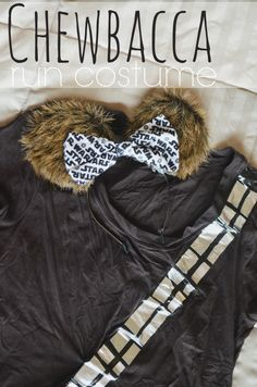 Star Wars Run Disney Costumes- Directions for an easy Chewbacca shirt and Mickey Ears. Links included for the rest of the rebels, droids, and Imperial forces. Star Wars Costumes, Boy Costumes, Costume Ideas, Disney Costumes For Girls, Chewbacca Costume, Halloween Run, Disney Half Marathon, Running Costumes, Running Outfits