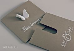 Nice idea for a money card or gift voucher. Fancy Fold Cards, Folded Cards, Wedding Anniversary Cards, Wedding Cards, Paper Cards, Diy Cards, Wedding Stationery, Wedding Invitations, Karten Diy