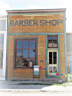 The last haircut    Ridgway, Colorado. I'm nor sure this was actually a barber shop. This small town was the filming site for several western movies in the 50s through 70s and some building facades were painted or otherwise altered to make them appear true to the period of the fims. A few of those alterations survive today and this could be one of them.