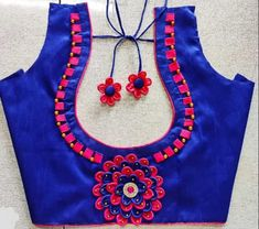 Mirror Work Blouse Design, Patch Work Blouse Designs, Cutwork Blouse Designs, Simple Blouse Designs, Embroidery Neck Designs, Stylish Blouse Design, Blouse Neck Designs, Blouse Designs Catalogue, Churidar Neck Designs