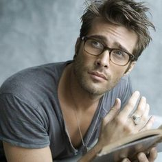 #sexymen #hotmen Some of my favorites: books, tousled hair, and a man in glasses ♥️