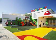 Beautiful Childhood Day Care - Famous Last Words Kindergarten Interior, Kindergarten Design, Daycare Rooms, Home Daycare, School Building Design, School Design, Ecole Design, Daycare Design, Kids Indoor Playground