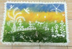 Warli art on Rangoli