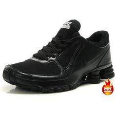 59234e13b93c6a Mens Nike Shox Turbo 10 Full Black Mens Nike Shox