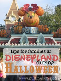Halloween at Disneyland is a magical time.  Here's a few things to expect if you're planning to haunt it with your family! #pullingcurls
