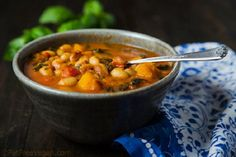 White Bean Stew with Winter Squash and Kale from Fat Free Vegan Kitchen