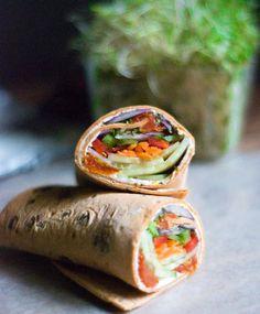 Fresh Veggie Wraps   Simply Love Food