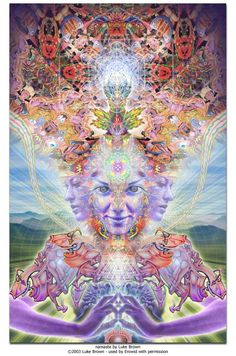 namaste by luke brown  psychedelic