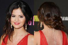 Selena Gomez's Romantic Side-Swept Braid