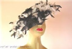 Find everything but the ordinary Tea Hats, Church Hats, Love Hat, Black Feathers, The Ordinary, Ballet Skirt, Black And White, Lady, Design