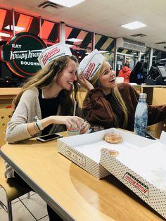 best friends & late night laughs at Krispy Kreme
