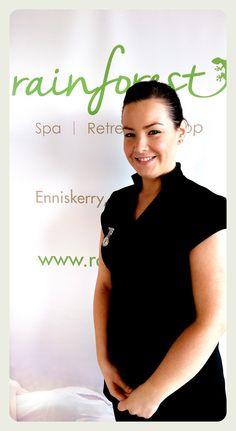 Rainforest therapist Vivien Hore - specialist in massage; reflexology & cancer care. #rainforest #spa #dayspa #salon #massage #facials #wicklow #dublin #ireland #best #retreat #offers #relax