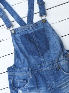 denim overalls short overalls 80's style by RetroBleuBySwede13