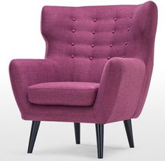 Kubrick Ohrensessel in Ockergelb Poltrona Bergere, Wingback Armchair, Sofa Chair, Sofas, Home Furniture, Furniture Design, Le Logis, High Back Chairs, Living Room Inspiration