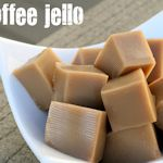 "Coffee Cubes. Made with instant coffee, unflavored gelatin and sweetened condensed milk. Serve 1"" cubes in mini-cupcake liners for a nice presentation."