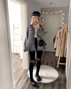 Casual Sporty Outfits, Casual Winter Outfits, Trendy Outfits, Cute Outfits, Casual Fall, Jean Outfits, Mein Style, Fall Fashion Outfits, Autumn Fashion
