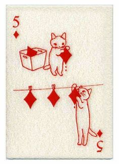 Cat of clubs card