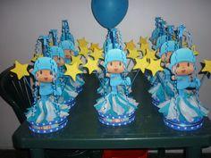 Pocoyo Decoration for Children Parties, centerpieces Boy First Birthday, Birthday Bash, Birthday Parties, Birthday Ideas, Crafts For Kids, Diy Crafts, Centerpieces, Table Decorations, Original Gifts