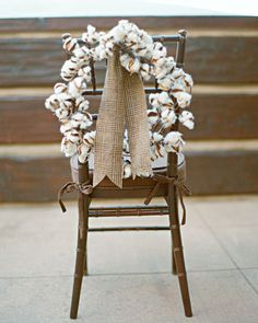 Wreath on the back of the Chair