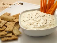 Dip de queso feta - MisThermorecetas A Food, Food And Drink, Feta Dip, Always Hungry, Appetizer Dips, Dip Recipes, Yummy Food, Favorite Recipes, Cheese