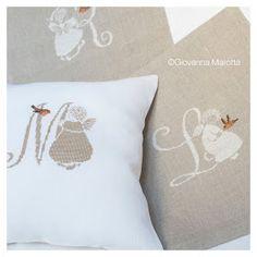 Cross Stitch Angels, Cross Stitch Art, Cross Stitch Alphabet, Cross Stitch Designs, Cross Stitch Embroidery, Cross Stitch Patterns, Small Pillows, Monogram Alphabet, Christmas Cross