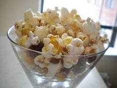 Honey-Glazed popcorn with dates and pecans! It's a Greek mix!  www.treatswithatwist.com