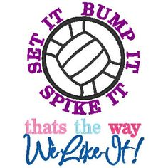 Set it Bump it Spike it Thats the way we Like it by astitchforyou. $3.00 USD, via Etsy.
