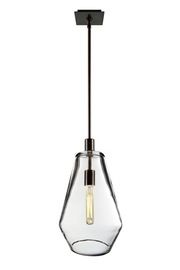 Muse Pendant Large  Art Deco, Contemporary, Industrial, Organic, Transitional, Crystal, Glass, Metal, Pendant by Zia Priven