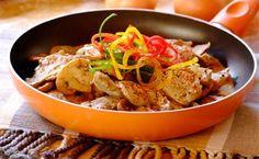 Mustard and mushroom pork pan