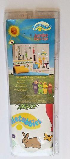 "Teletubbies Jumbo Stick-Ups Wall Decoration Appliques 18 x 40"" Sheet Priss Print #PrissPrints"
