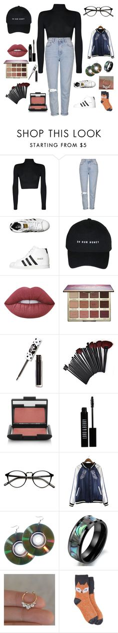"""Untitled #65"" by littlemissmonster13 ❤ liked on Polyvore featuring WearAll, Topshop, adidas Originals, Lime Crime, tarte, NARS Cosmetics, Lord & Berry and Target"