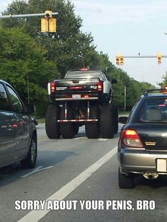 """Everytime I see an """"overdone, over lifted, overboard truck"""" I say this!!...lol"""