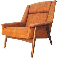 Image of Vintage 60s Dux Folke Ohlsson Lounge Chair Danish