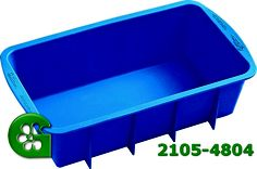 Wilton item number 2105-4804. Visit www.GalesWholesale.com for more information. Wilton Easy Flex Silicone Loaf Pan -  9.25 x 5.25. Discover the convenience and easy release of flexible silicone bakeware!Exceptional baking performance for your favorite recipes.Freezer, refrigerator, oven, microwave and dishwasher safe.Resists stains and odors. Oven safe to 500�F. Easy and convenient storage. Limited lifetime warranty