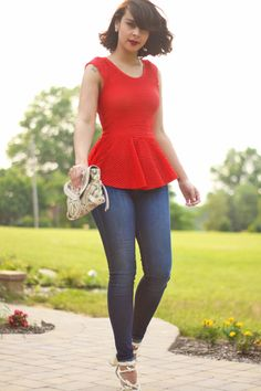Peplum Top Fashion Bananas