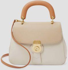 Burberry Women's #Leather Contrast Flap Satchel #purse leather