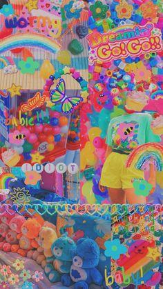 Retro Wallpaper Iphone, Emo Wallpaper, Hippie Wallpaper, Rainbow Wallpaper, Iphone Wallpaper Tumblr Aesthetic, Aesthetic Pastel Wallpaper, Cartoon Wallpaper, Aesthetic Wallpapers, Trendy Wallpaper
