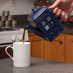 Doctor Who TARDIS Teapot - Take My Paycheck - Shut up and take my money! | The coolest gadgets, electronics, geeky stuff, and more!
