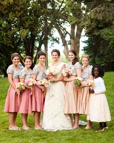 Modest Bridal Party, Modest Bridesmaids, Modest Bride
