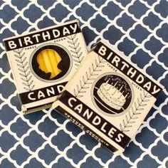 Vintage Cameo Birthday Candles