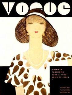 ⍌ Vintage Vogue ⍌ art and illustration for vogue magazine covers - June 1930 - Cover by Harriet Meserole Vogue Vintage, Vintage Vogue Covers, Vintage Fashion, Harlem Renaissance, Poster Vintage, Vintage Ads, Vintage Barbie, Girl Faces, Male Character