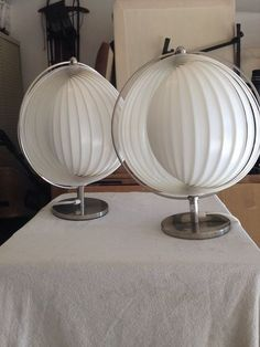 Panton Table Top Style Moon Lamps   RARE   Mid Century/modern Lamps