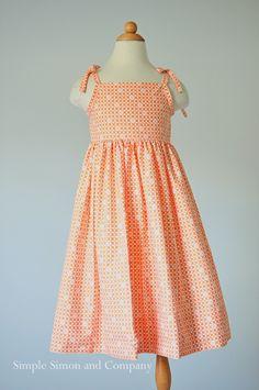 Free Sundress Pattern (size 3 to 8) - Sew Pretty Sew Free