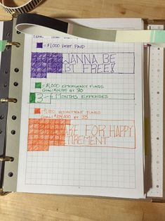 wannabemoved:Thanks to bulletjournals and others for sharing ideas on tracking financial goals! This is what I came up with. That's such a good idea!