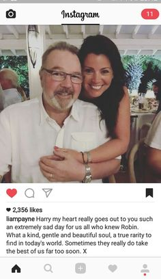 Liam via ig #RipRobin<<< oh my carrots!!! I just found out about this