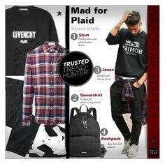 """""""wardrobestaples - Street Style - menswear"""" by alves-nogueira ❤ liked on Polyvore featuring Givenchy, TravelSmith, Faith Connexion, men's fashion and menswear"""