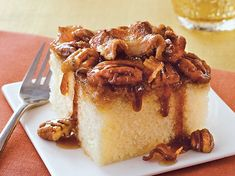 Maple and bacon come together in this upside-down cake that's made using Betty Crocker® SuperMoist® cake mix - a distinctive dessert.