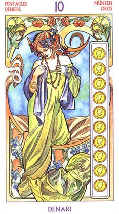 Tarot Art Nouveau ► Ten of Pentacles