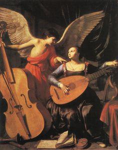 Carlo Saraceni : St.   Cécile avec l'Ange